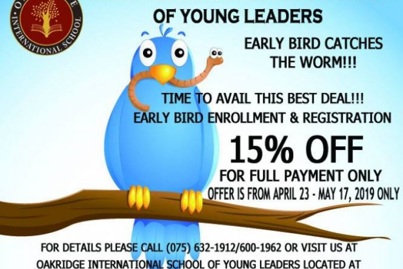 Early Bird Enrollment Discount